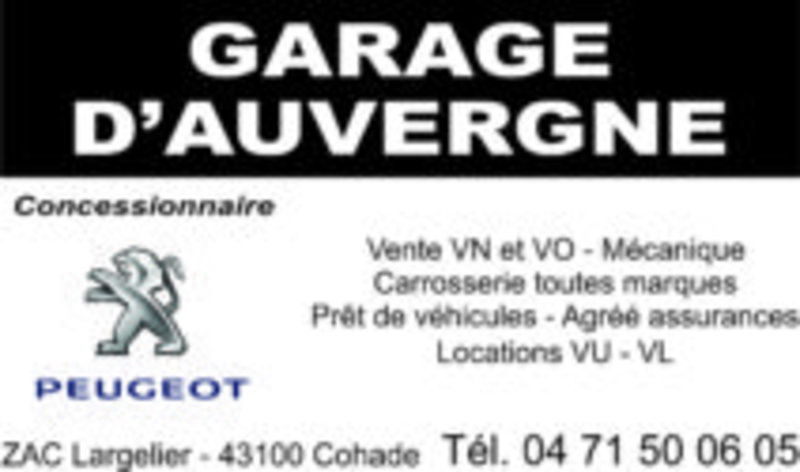 Garage d'Auvergne Bion Peugeot