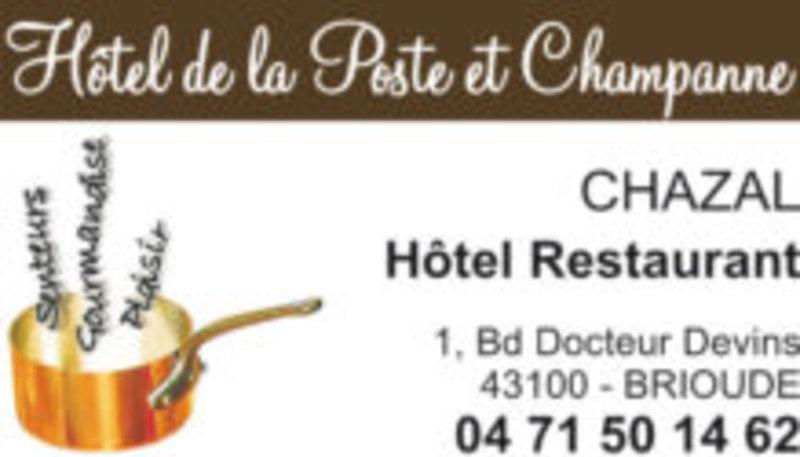 Hotel de la poste et Champanne