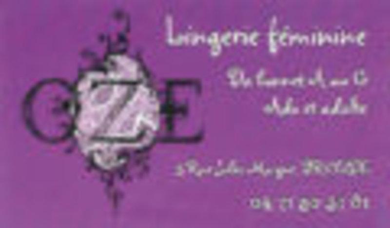Lingerie féminine OZE